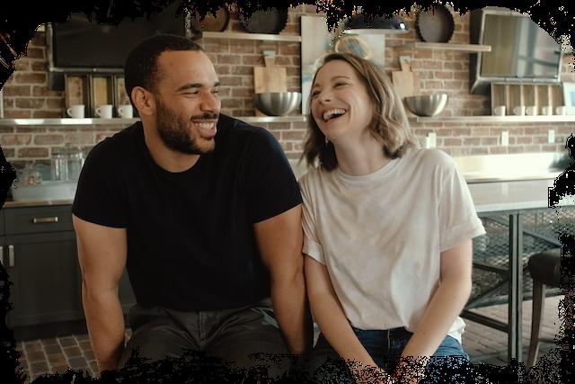 diverse couple joy people